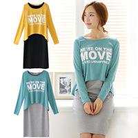 female shirts casual dress bodycon blouses for women 2014 women dress shirts  wholesale korean style free shipping 014