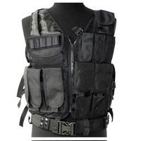 Military assault Molle tactical combat vest (pistol pouch + mag pouch+litter pouch ) Black
