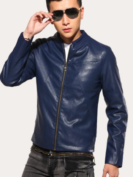Mens Small Leather Jacket - Jacket