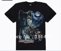 wolf moto 3d print men's T-shirt short sleeve o neck tee shirt men's clothing 026