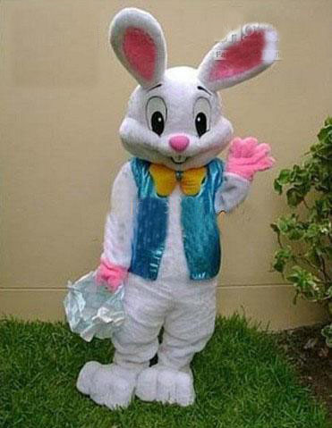 2014 sell like hot cakes PROFESSIONAL EASTER BUNNY MASCOT COSTUME Bugs Rabbit Hare Adult(China (Mainland))
