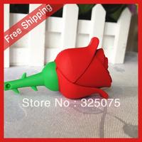 pen drive cartoon red rose 4gb 8gb 16gb 32gb bulk flower usb flash drive flash memory stick pendrive gift free shipping