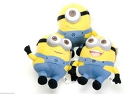 free shipping popular 3pcs / set Despicable ME Movie Plush Toy 18cm Minion Jorge Stewart Dave baby funny toys