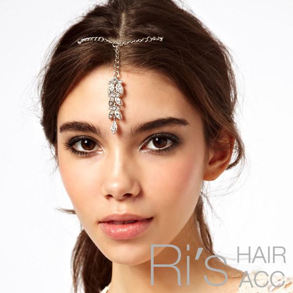 RETAIL vintage rhinestone leaf hair pins hair clip hair accessories for women(China (Mainland))