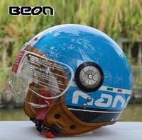 Free shipping ,BEON motorcycle helmet half helmet helmet and helmet Prince retro EV B-110 white