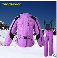 Double ski suit parent-child skiing set women's ski suit waterproof outdoor windproof thermal set