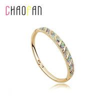 Fashion gold plated crystal jewelry circle diamond bracelet female