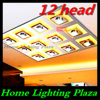 Crystal LED ceiling lights and more modern minimalist living room lamp bedroom lamp free situational restaurant delivery 12 head