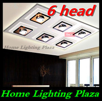 Crystal LED ceiling lights and more modern minimalist living room lamp bedroom lamp free situational restaurant delivery 6 head