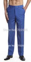 2014 Time-limited Hot Sale Cotton Formal Canvas Skinny Details About Concitor Men's Dress Pants Trousers Flat Front Slacks Royal