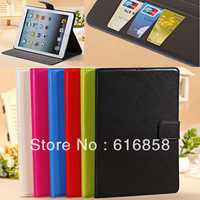 YLFMW Wallet Folio PU Leather Case Smart Cover Stand For Apple iPad Air 5 + Free Film + Stylus pen Free Shipping