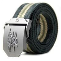 Free shipping Hot sell Spring The new  joker recreational canvas belt Thickening woven belts unisex belt cool canvas belt