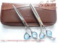 "6.0"" JOEWELL Professional Hair Cutting Scissors Set,Razor+thinning scissors,Beauty Hair dressing shears,barber scissors ,440C"