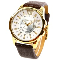 2014 New Fashion Casual PU Leather Strap Analog Men Quartz Watch High Quality Waterproof Men Male Wristwatch #L05501