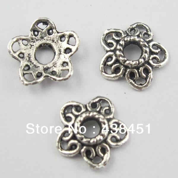 Free Shipping 80Pcs Tibetan Silver Tone Hollow Star End Bead Caps 11.5mm Jewelry Craft DIY(China (Mainland))