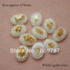 Free Shipping-White with gold foil 200pcs super shine Nail Art Decoration glitter stone