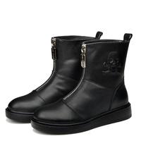 Fashion Women's Snow Boots Warm Winter Fur Shoes Platform Zipper