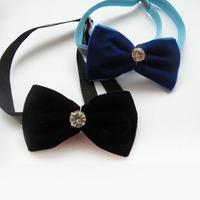 Armi store Handmade Cute Mini Rhinestones Ribbon Dog  Tie Collar Bow 31005 Cat Bow Tie Collar.