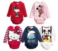 2014 free shipping Retail 1 pcs Top Quality! newborn casual romper baby boy/girl cartoon Romper infant spring&autumn romper