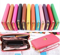 Promotion!Fashion Women wallets Many Colors Wallet Clutch Long Handbag Phone Case for Galaxy S2,S3,iphone 4,4S,5 NP01