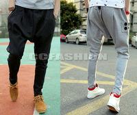 Hot! NEW Mens Sports Dance Trousers Casual Baggy Drop Crotch Jogging Harem Pants
