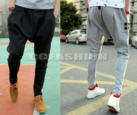 Hot! NEW Mens Sports Dance Trousers Casual Baggy Drop Crotch Jogging Harem Pants