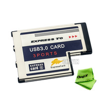 3 Port Hidden Inside USB 3.0 USB3.0 to Expresscard Express Card 54 54mm Adapter Converter FRESCO LOGIC Chipset FL1100 0.3-CP004S