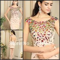 Girls Prom Dresses Short Beaded Luxury Design NEWE-0266-1