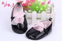 Black Children's Bowknot Shoe Princess Baby Shoes Soft Sole SabyShoe Girls Free shipping & Drop shipping