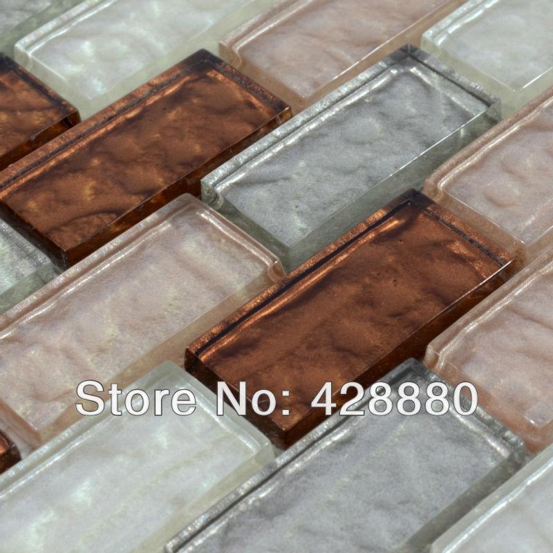 Metrotegels Keuken Kopen : Glass Mosaic Subway Tile Kitchen Backsplash