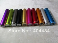 30pcs external battery charger 2600mah cylinder design mobile phone battery pack with retail box via Fedex IE