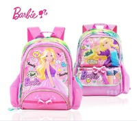Barbie Children School Bags 30*15.2*40 cm Polyester 3 Options Orginal Backpacks Free Shipping