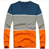 New 2014 mens V neck pullovers 2013 free shipping high quality wool fashion spring autumn male casual desigual mens apparel D267