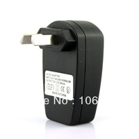 free shipping promotional 100% new AU Plug USB AC DC Power Supply Wall Charger Adapter MP3 MP4 DV Charger Black