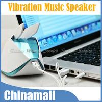 Magic Origami Rabbit Style Vibration Resonance 3.5mm USB Music Audio Speaker Free Shipping & Drop Shipping