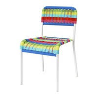 1 piece PP powder coated  steel knit kids chair