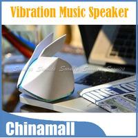 Magic Origami Rabbit Style Vibration Resonance 3.5mm USB Music Audio Speaker 10pcs/lot Express Shipping & Drop Shipping