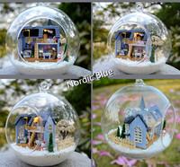2014 new Ground glass ball mini DIY snow villa house mould Valentine's day gift Birthday gift Adult Children Toys