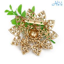 P1219 030 Free Shipping 10PC Lot new gold brooch rhinestone diamante crystal wedding broach bridal party