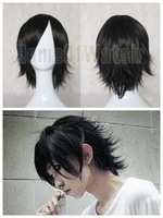 35cm Black Short Straight Wigs Cosplay Wigs (NWG0CP60744-BL1)