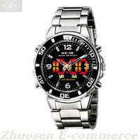 New WEIDE LED Uhr Herrenuhr Analog Digital Dual Time Date Mens Sport Gift Watch WH-843