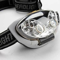 1pcs Flashlight camping lamp4 White LED and 2 Red LED 4-Mode Headlamp 3xAAA Camping lamp working lamp
