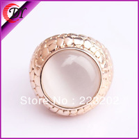 2014 Retail New Free Shipping Fahion Alloy Gold Plated Big Cat Eye Design Rings For Men & Women WNR761