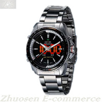Waterproof LED Flash Digital Date Alarm Sports Mens Quartz Analog Watch WH-903
