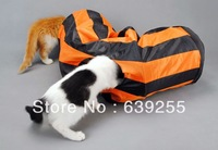 Dog Cat double layer oxford fabric retractable folding storage pet tunnel cat dog toy