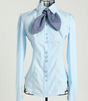 Women's 2014 spring and summer top shirt ol female long-sleeve shirt casual shirt fashion