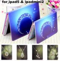 New Design Diamond Series PU Leather Stand Case For iPad Air iPad5 for iPad mini2