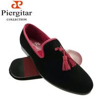 Red Tassel Men Velvet Loafer Slippers Size 6-13 Free Shipping