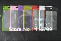100pcs 18*10cm Clear window Zip lock gift Mobile phone case earphone gift shop packing bag OPP PP PVC Poly plastic packaging bag