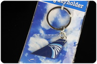 4cm Cute Mini EGYPTAIR Airlines Wing Plane Keychain Key chain Airplane Tailplane Keyring Key Ring Free Shipping